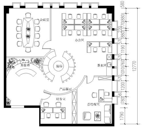 鼎盛装饰办公室设计图